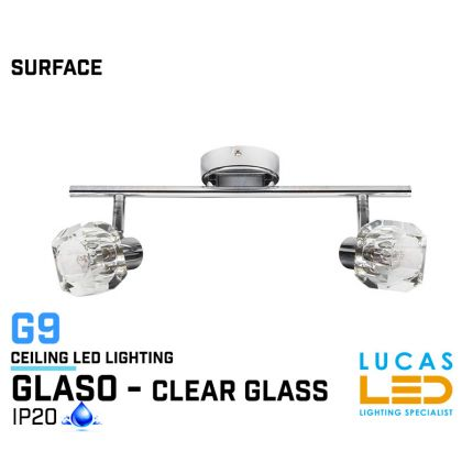 Ceiling fitting Lights - Surface - Modern &  Decorative Home Lamp GLASO 2L - glass lampshades - 2 x G9 LED - IP20