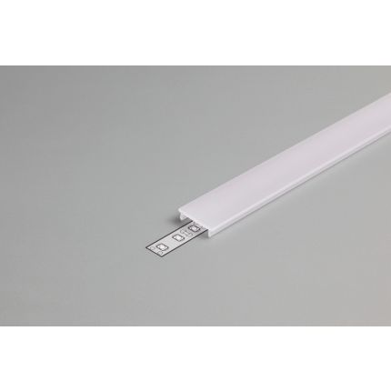 Diffuser Type F For LED Profiles, Click, Milky, 2000mm