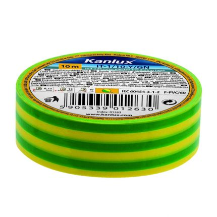 IT 20 - YELLOW-GREEN - Self-Adhesive Electro-Insulating Tape