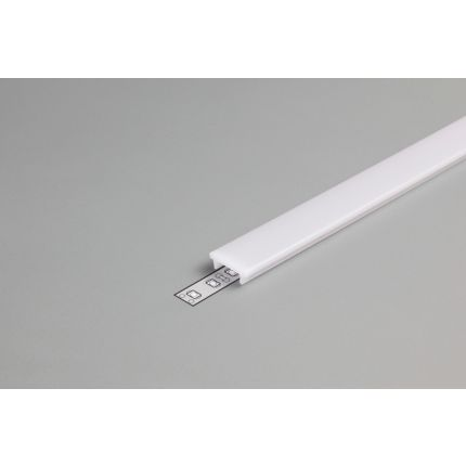 Diffuser Type K For LED profiles, Click, Milky, 2000mm