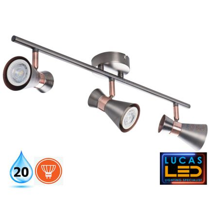 LED Ceiling surface Light- GU10- IP20- Decorative Home Lamp MILENO L3- Silver&Cooper color