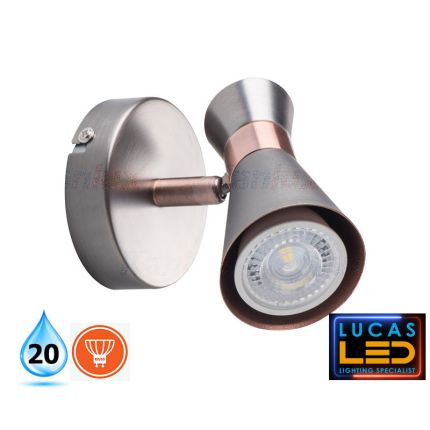 LED Wall & Ceiling surface Light- GU10- IP20- Decorative Home Lamp- MILENO- Silver&Cooper color