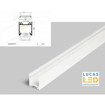 LED Surface Profile , Linea20 EF/TY, WHITE , 2 meter