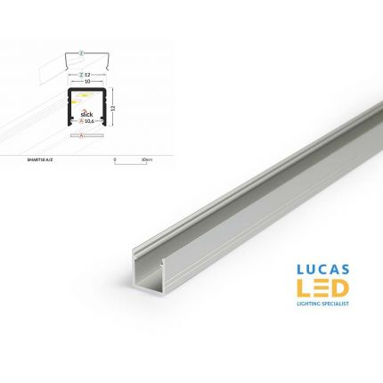 LED Profile Surface SMART10 , Silver , 2 meter lenght