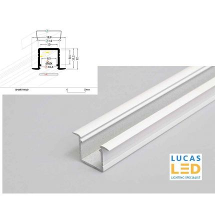 LED Recessed Profile , Smart-in10 , WHITE, 2 meter
