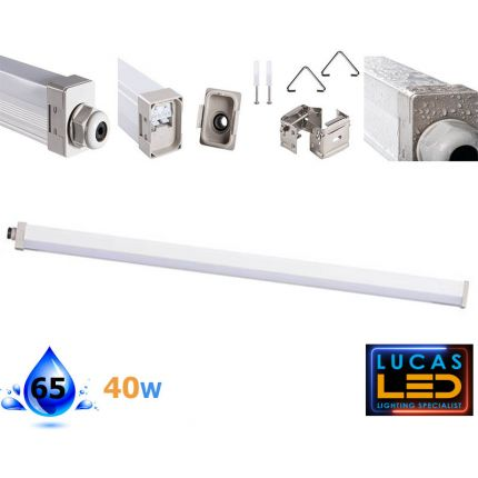 LINER LED Tube - 40W - IP65 - 4000K Natural White - surface-ceiling-suspended- light - TP SLIM WATERPROOF