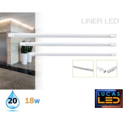 LINER LED 665mm - 18W - IP20 - 1600lm -  Natural White - LED Lighting Tube