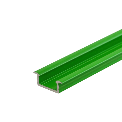 Green LED Recessed Profile Fose02 for LED strips , 2 meter , Click&Go ,SET end caps & handle