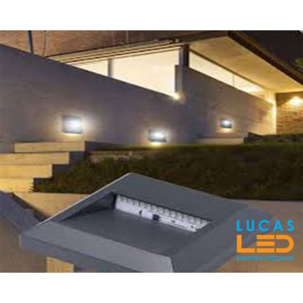 Outdoor LED Wall Light-Surface-Facade mounted-1.1W-30lm-IP65-Cold White-CROTO Graphite