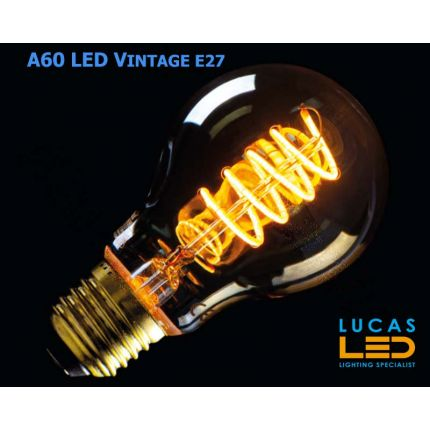 A60 LED Vintage bulb filament bulb- 5W - E27 - SUPER WARM Colour - 1800K - 230lm - viewing angle 320° - New Xled Decorative Style