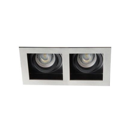 LED Recessed Spotlight - Ceiling fitting - 2xGU10 - IP20 - Vertical adjustment of 20° - ARET Grey