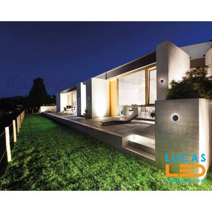 Surface LED Wall Facade Light- 8W- IP54- 330lm- 4000K- Graphite- Outdoor&Indoor lamp- Up&Down- FORRO