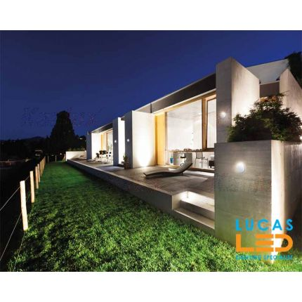 Surface LED Wall Facade Light- 8W- IP54- 330lm- 4000K- White- Outdoor & Indoor lamp- Up & Down- FORRO