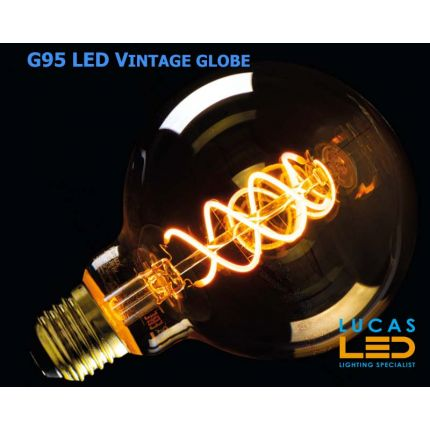 G95 LED Vintage bulb Filament light- 5W - E27 - SUPER WARM Colour - 1800K - 290lm - viewing angle 320° - New Xled Decorative Style