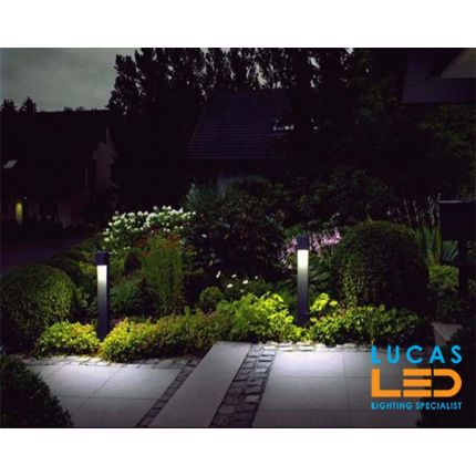 Outdoor LED Garden Light - Gu10 - IP44 - Modern GORI 800mm- Anthracite - Driveway-Pathway-Bollard-Post Lamp