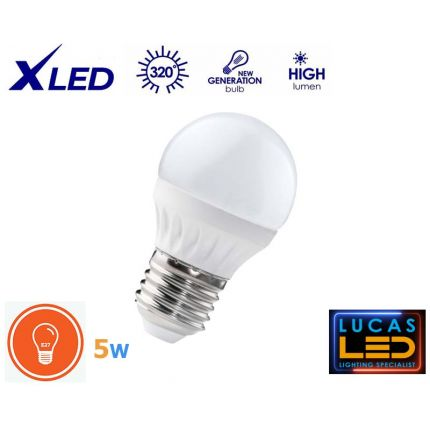 LED Bulb 5W - E27 - Warm White - viewing angle 200° - BILO LED Light source