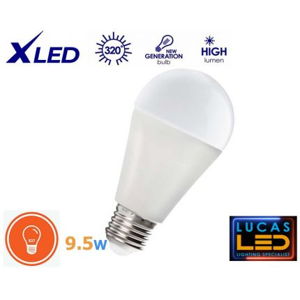 LED bulb 9.5W - E27- viewing angle 200° - PRO RAPID LED Light source