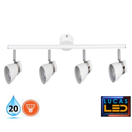 LED Ceiling surface Lighting- GU10 (4 x max.35W) - IP20-  Scandinavian Style Home Lamp- ENALI L4