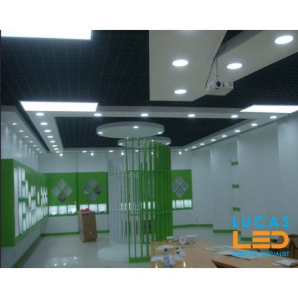 LED Panel Light  8W - 550lm - IP40/20 - RECESSED Downlight - ceiling - full fitting - Bathroom / Kitchen - LED SMD - LITEN