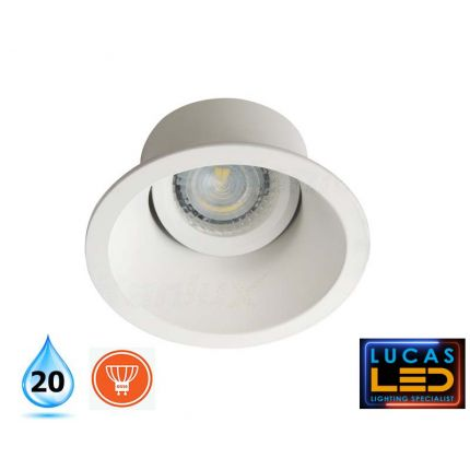 LED Recessed Downlight - ceiling mounted - GU10 bulb - IP20 - Deep Effect - APRILA Round