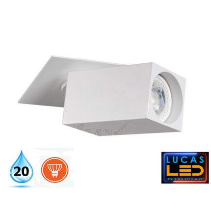 LED Wall & Spotlight ceiling fitting light - GU10 - Decorative CHIRO White