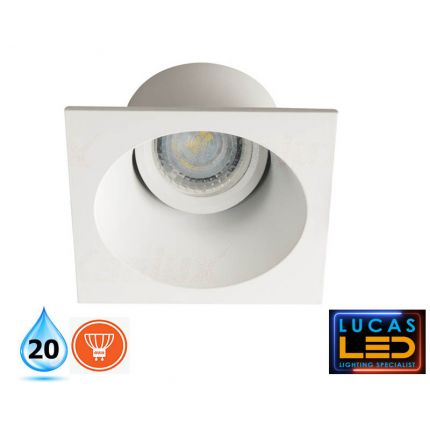 APRILA Deep Effect - IP20 - Gu10 - White - Modern  LED Downlight / Decorative Indoor Spotlight