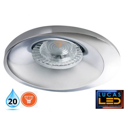 LED Spotlight, recessed light - GU10 - IP20 - BONIS Chrom/Silver
