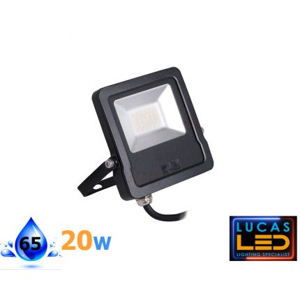 ANTOS 20W - 1600l - Natural White – Black – LED Floodlight