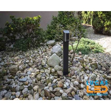 Outdoor LED Garden Light - Driveway - 2 x GU10 - IP44 - Black - Modern post lamp NOVIA 500mm