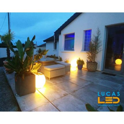 Outdoor LED Ball Lights - IP65 - E27 - Decorative STONO 50cm - Garden Path Lighting Ground Spike Plug Lamps