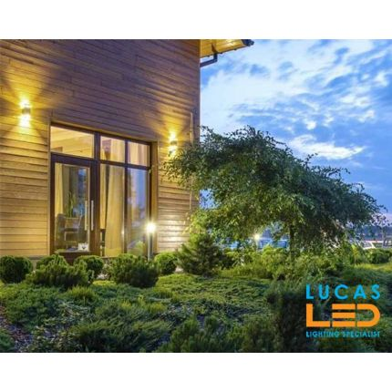 LED Surface- Wall-Mounted Light- Up&Down- 2xGU10- IP44- Grey- Outdoor & Indoor-Modern Facade lamp- ZEW-u