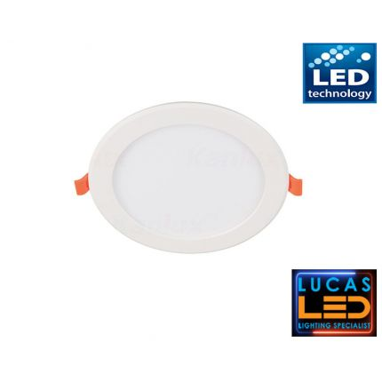 LED panel- downlight , recessed light - 12W - IP20 - 900lm - Natural White