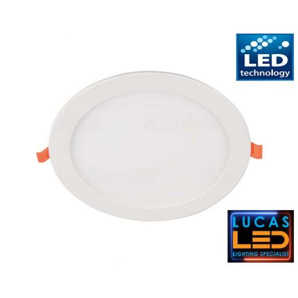 LED downlight panel , recessed light - 18W - IP20 - 1350lm - Natural White - MILO LED spotlight