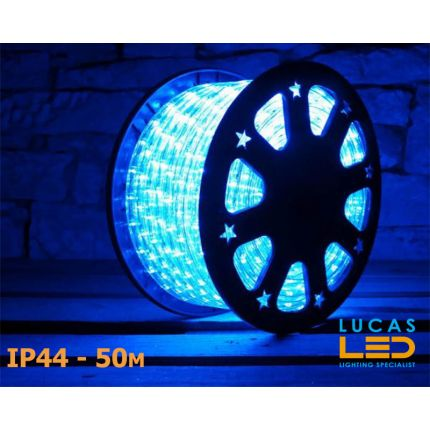LED Rope Lights SET - 125W - 1800 LED - IP44 Waterproof - 50m Roll - BLUE Light + Connection Cable - outdoor and indoor