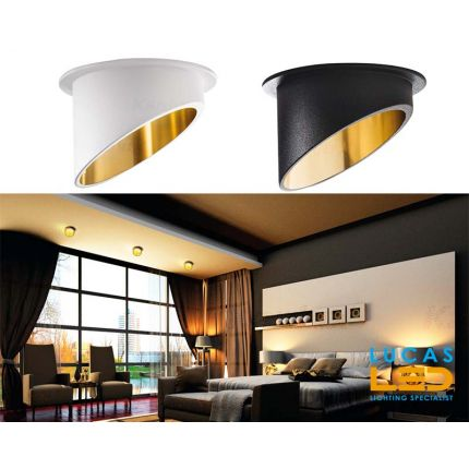 Surface LED Spotlight -recessed- light - GU10 - IP20 - SPAG C - White/Gold & Black/Gold