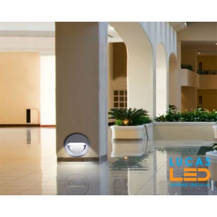 Outdoor LED Wall Facade Light - 1.3W - IP65 - 30lm -  Graphite -  Decorative CROTO round shape