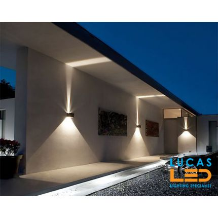 Surface LED Facade Fitting Light- 7W- IP54- 4000K- 380lm- White- Indoor & Outdoor- Up&Down- REKA cube shape