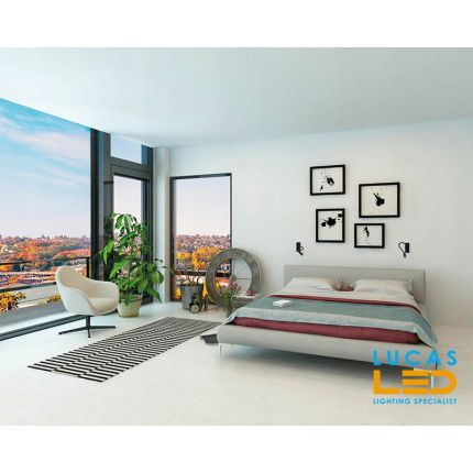LED Wall mounted light - 2.7W - 3000K warm white - 100lm - IP20 - recessed - flexible bedside- reading lamp - TONIL White & Black