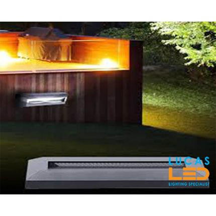 Outdoor LED Wall Light-Surface-Facade mounted-1.7W-IP65-60lm-Cold White-ONSTAR Graphite