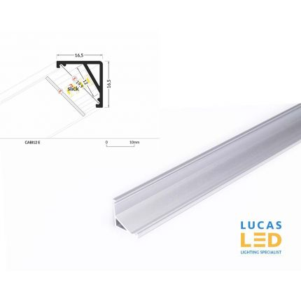 LED Corner Profile CABI12 , Silver ,2 Meter Length