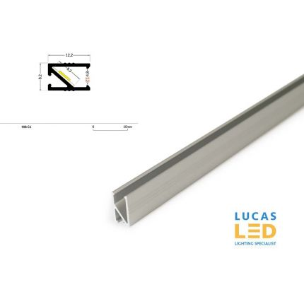 LED Recessed Profile HI8 , Silver ,2 Meter Length
