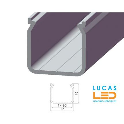 LED Surface Profile • Box P04 • Silver • 2 meter •
