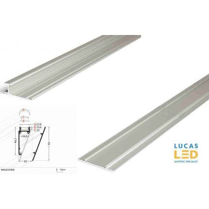 LED Special Application Profile , Walle12 SILVER , 2 meter with support profile