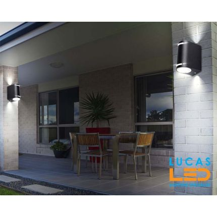 Outdoor LED Wall Facade Light Up & Down - IP44 - GU10 -Black - Modern NOVIA 220
