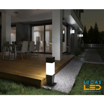 Outdoor LED Garden lighting- Architectural - E27- IP54- 470mm- INVO Square shape- floor standing lamp for Pathway , Driveway