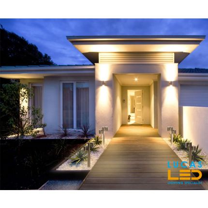 Outdoor LED Wall Light - GU10 - IP54 - DARSA 235  - Surface Facade Lamp - Up & Down Light - Stainless Steel