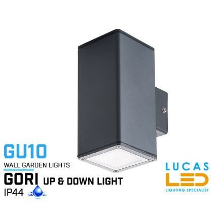 Outdoor LED Wall Light - Gu10 - IP44 - GORI 235 - Surface Facade Lamp - Up & Down Light - Anthracite colour