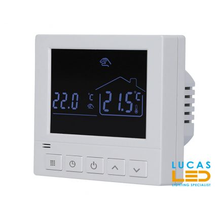 Programmable room thermostat for infrared heating film