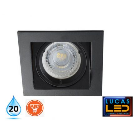 Recessed LED Downlight  - Spotlight - Ceiling fitting - Gu10 bulb - IP20 - ALREN Black