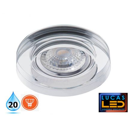 MORTA - IP20 - GU10 - Recessed LED Spotlight, cristal ring